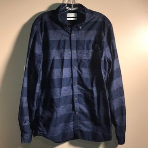 Denim & Flower Slim Fit Striped Button Down Shirt